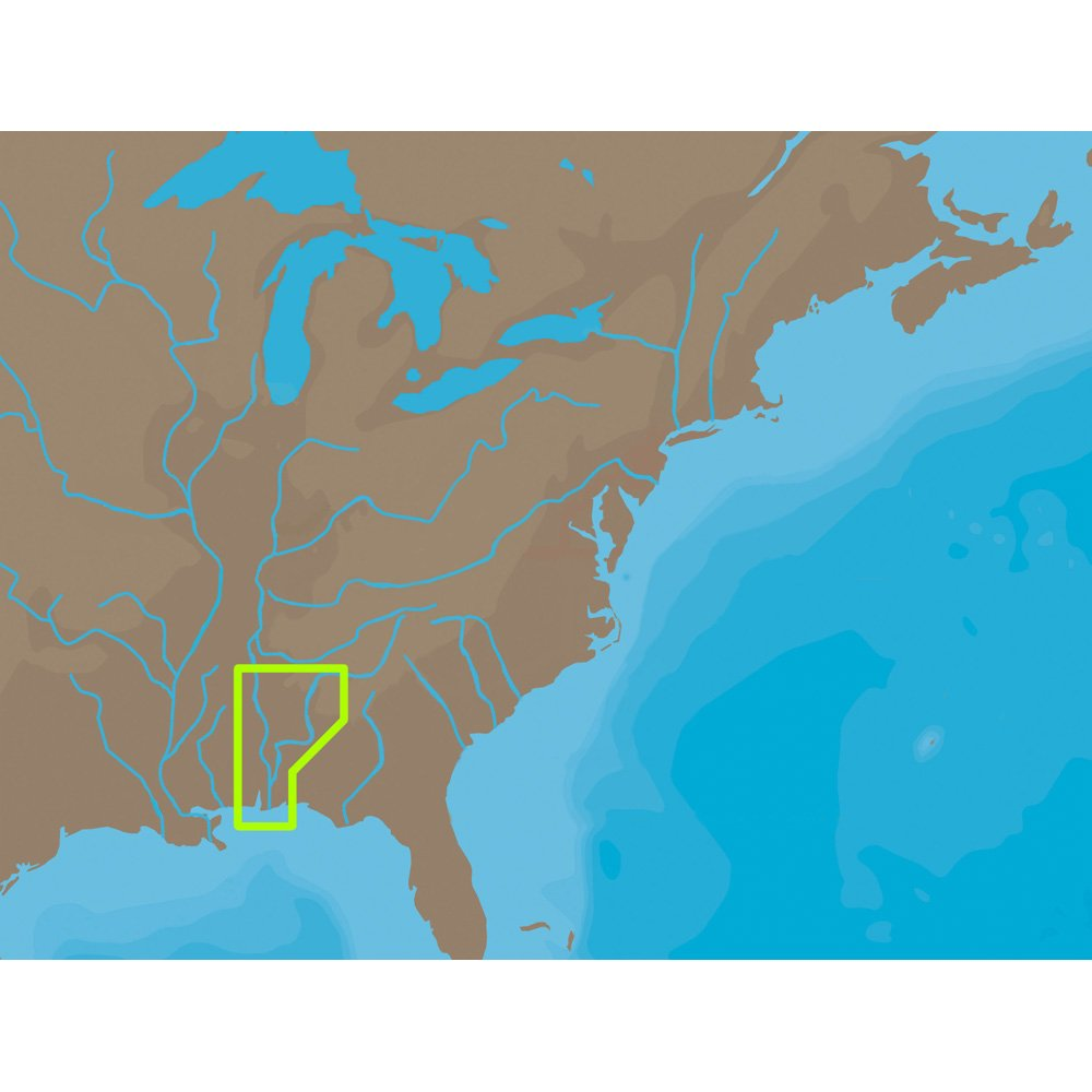 C-MAP NT+ NA-C045 - Black Warrior & Lower Tombigbee Rivers - Furuno FP-Card