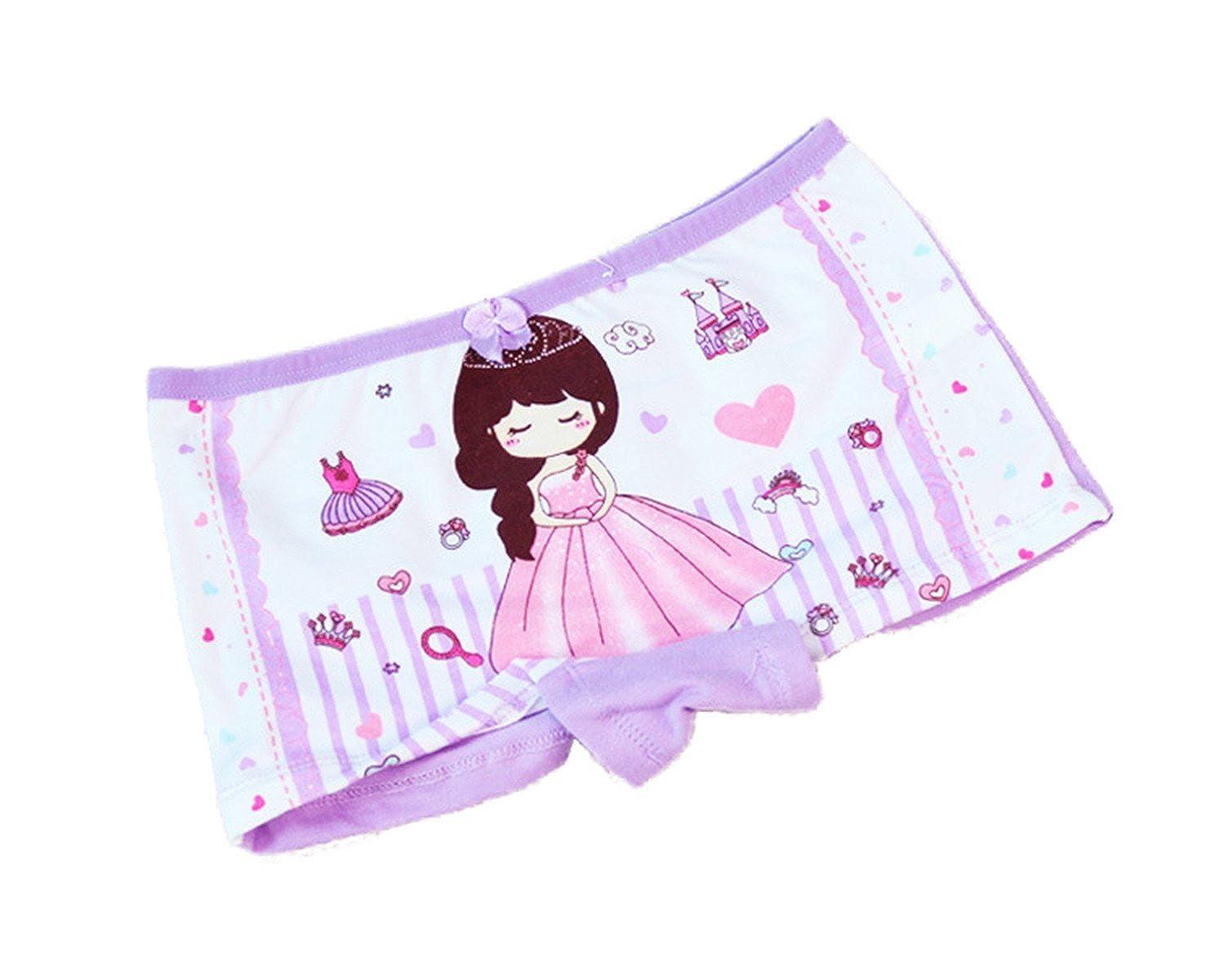 FAIRYRAIN 4 Packung Baby Kleinkind M/ädchen Princess Girl Pantys Hipster Shorts Spitze Baumwollunterhosen Unterw/äsche