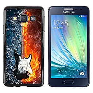 Impact Case Cover with Art Pattern Designs FOR Samsung Galaxy A3 Water and fire guitar Betty shop