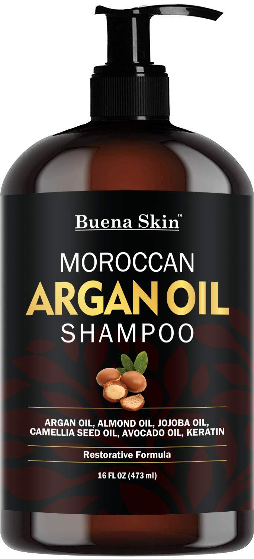 Amazon.com : Buena Skin Premium Argan Oil Shampoo - Sulfate ...