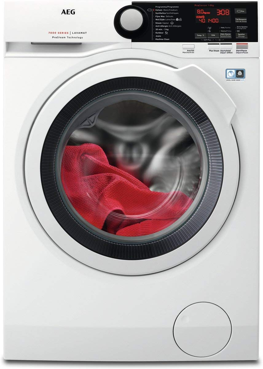 AEG Wasmachine Prosteam L7FBE86W: Amazon.es: Grandes electrodomésticos