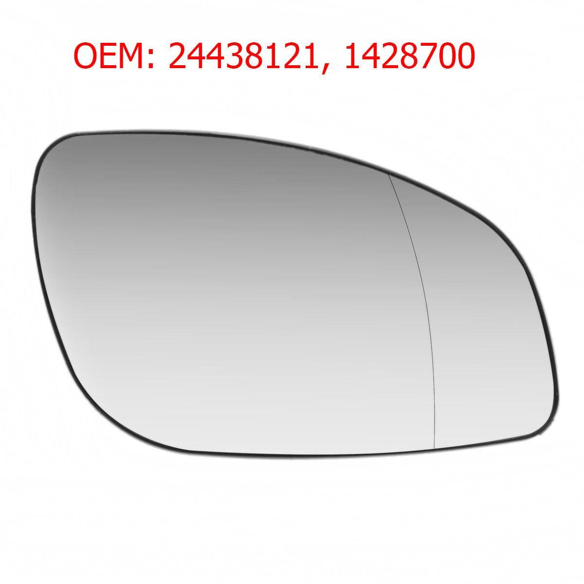 CarJoy 650480 Au/ßenspiegel Beheizbar Weit Winkel Glas Spiegelglas Rechts Beifahrerseite OEM 24438121 1428700