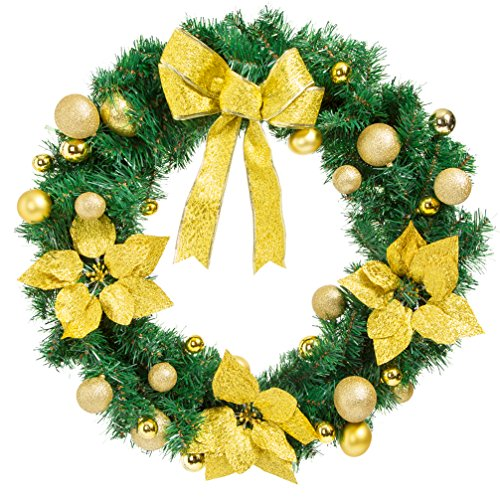 Christmas Wreath for Front Door Artificial Garland Wall Decoration Christmas Party Decor (15.7