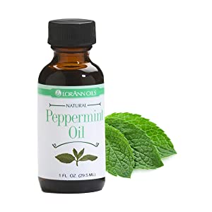 LorAnn Peppermint Oil Super Strength Natural Flavor, 1 ounce bottle