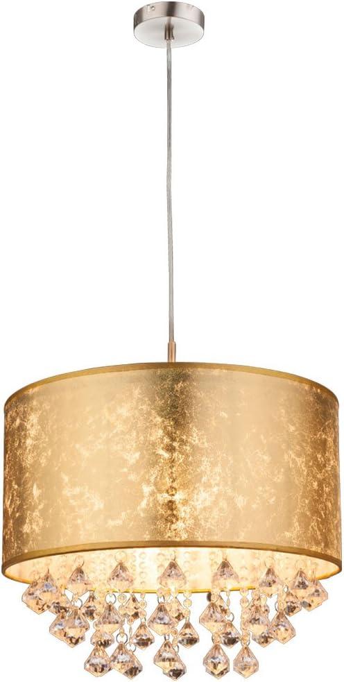 60/W color oro. Globo Amy lampadario nickel