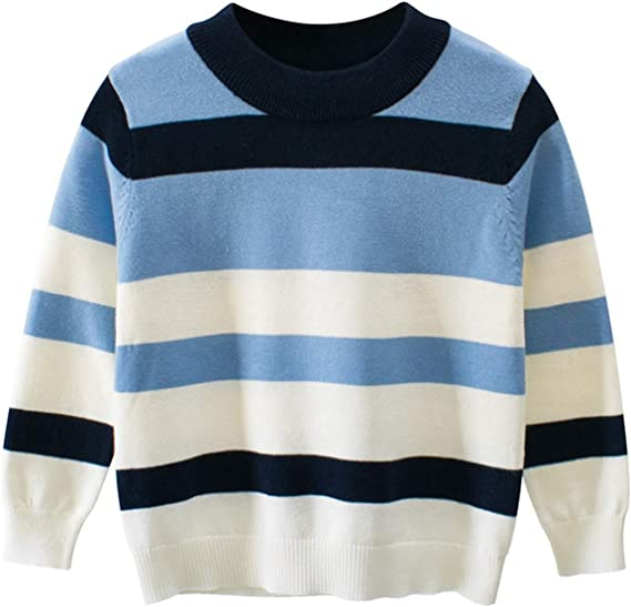 Kids Boys Sweaters Girls Pullover Knitted Striped Sweater Children Long  Sleeve Tops Boy Knit Sweater: Amazon.ca: Clothing & Accessories