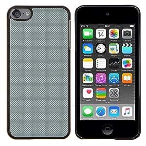 EJOOY---Cubierta de la caja de protección para la piel dura ** Apple iPod Touch 6 6th Touch6 ** --GRIS Modelo de puntos