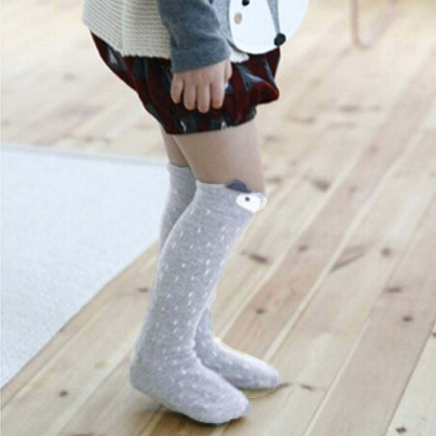 Cartoon Cute Kids Socks Bear Animal Baby Cotton Socks Knee Long LegWarmers Cute Socks