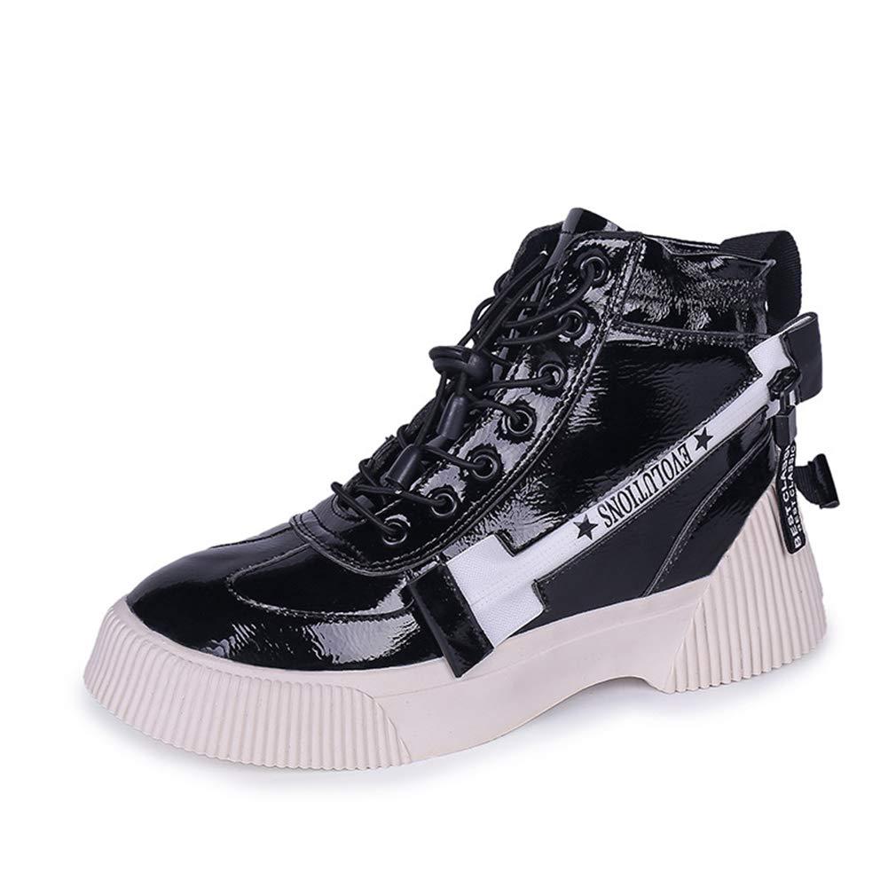 YAN damen es Stiefel High-Top High-Top High-Top Casual schuhe PU Deck Schuhe Novelty schuhe Fashion Street Dance Platform Schuhe schwarz Weiß schwarz 36 c6d2ce