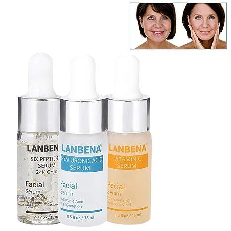 Suero de vitamina C para la cara Crema facial antienvejecimiento de oro 24K rico en suero