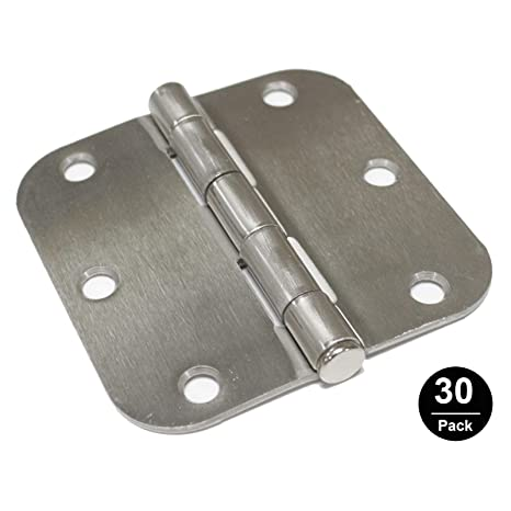 Gobrico Metal Door Hinge Types Satin Nickle 3 5in by 3 5in with 5/8