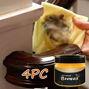 Kadola Wood Seasoning Beewax - Traditional Beeswax Polish for Wood & Furniture, All-Purpose Beewax for Wood Cleaner and Polish Wipes - Non Toxic for Furniture to Beautify & Protect, No Build-Up