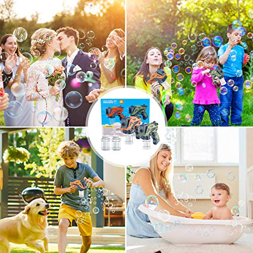 Bubble Machine for Kids, Bubble Gun Bubble Blaster, Automatic Bubble Maker Party Toys, Bubble Guns for Toddlers, Bubble Blaster Party Favors, Outdoors Activity, Easter, Birthday Gift, 1 Pack-Orange