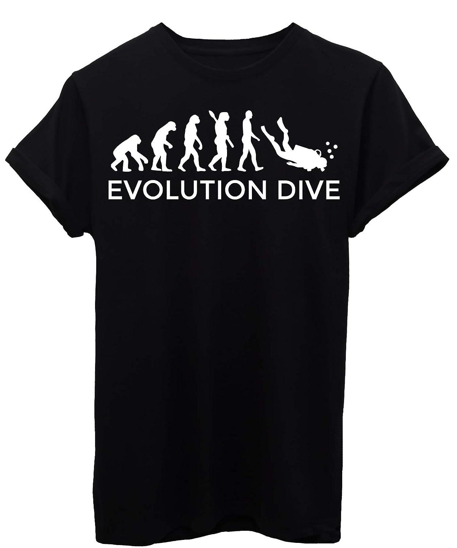 Evolution by IMAGE T-Shirt Evoluzione Sub Immersioni Dive Sport
