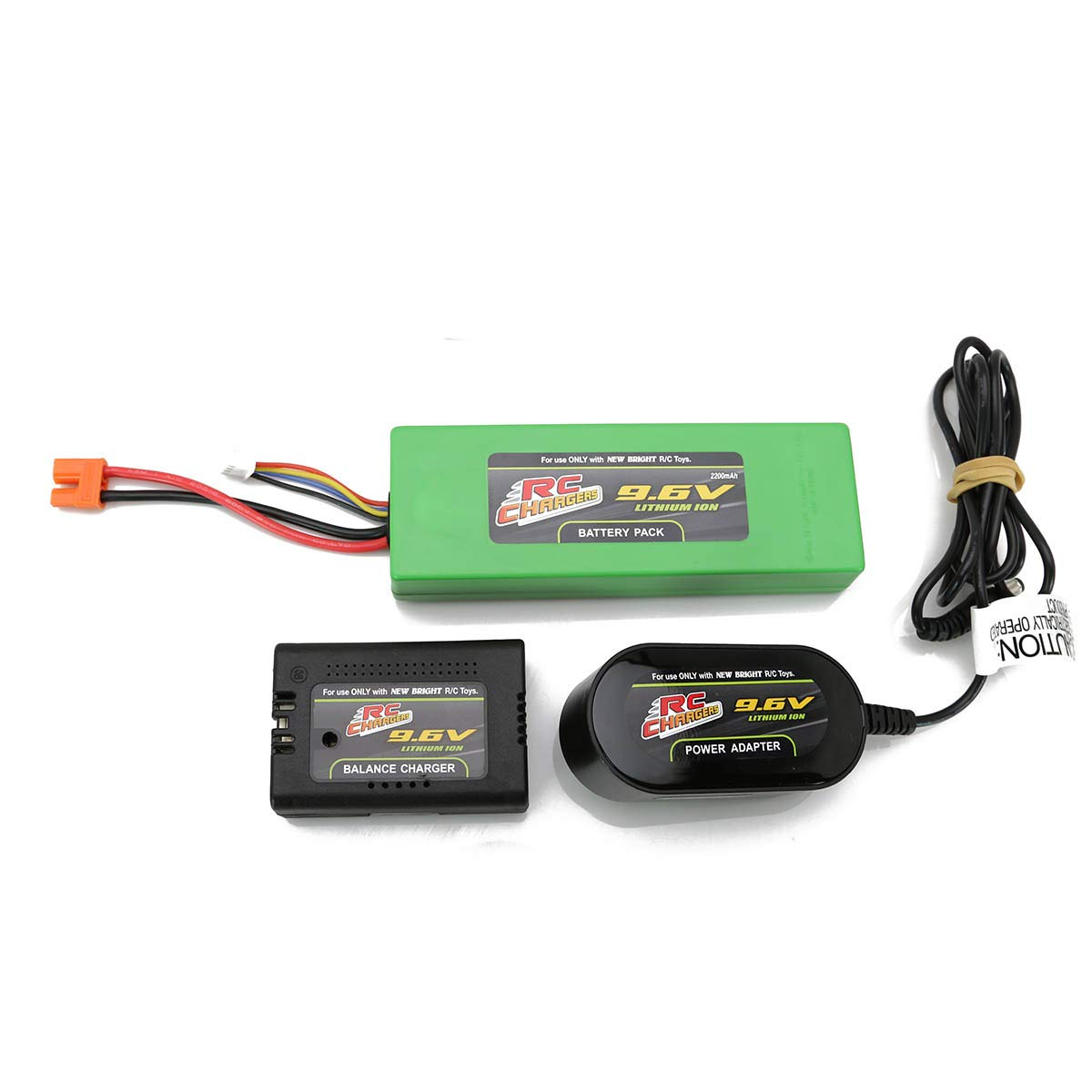 Official 9.6 Volt 2200 mAH Lithium Ion RC Chargers Rechargeable Battery Pack and Charger Included   Fits RC Pro Brushless Beast   Also Works with New Bright Frenzy, Model #81060