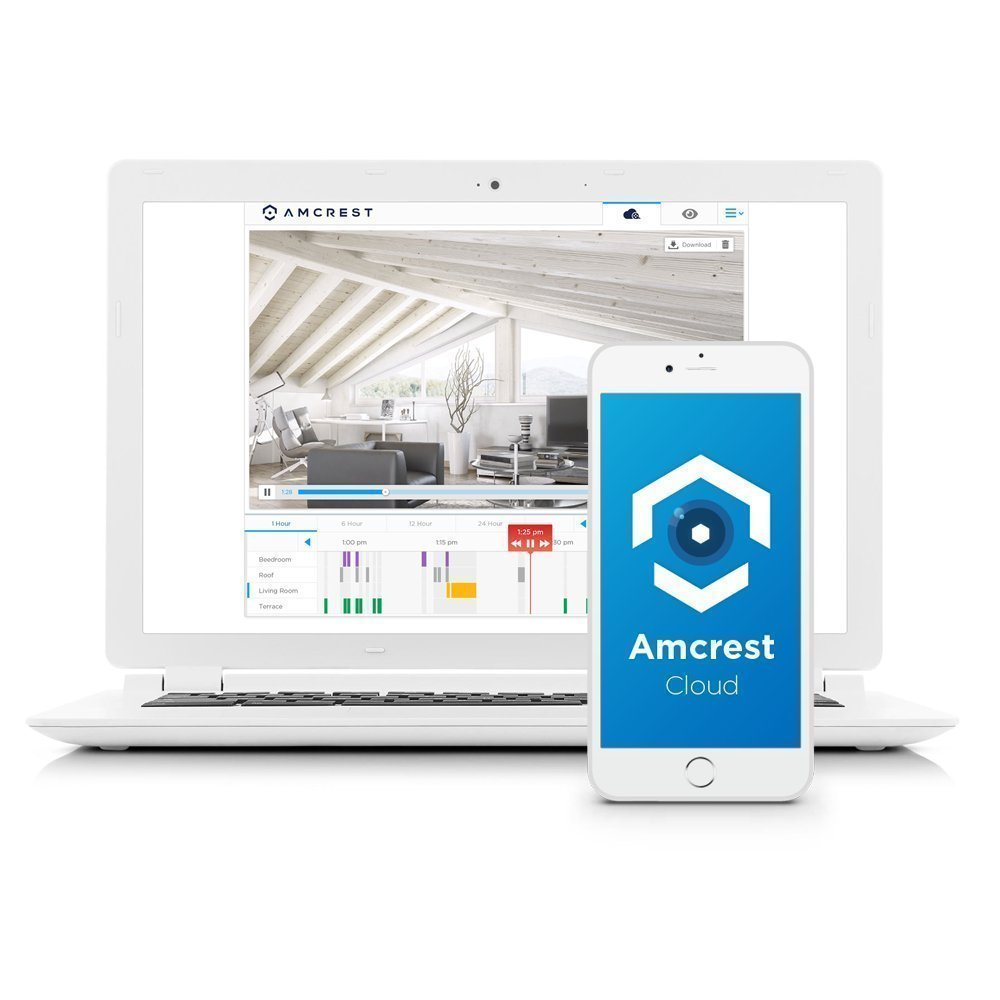 Amcrest ProHD Shield WiFi IP Security Camera, 960P 1.3 Megapixel(1280960P), Two-Way Audio, Wide 140° Viewing Angle, MicroSD & Cloud Recording, Night Vision, (White) (Certified Refurbished)
