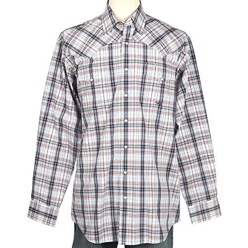 - Miller International Mens/Red Plaid Long Sleeve Button Shirt L White