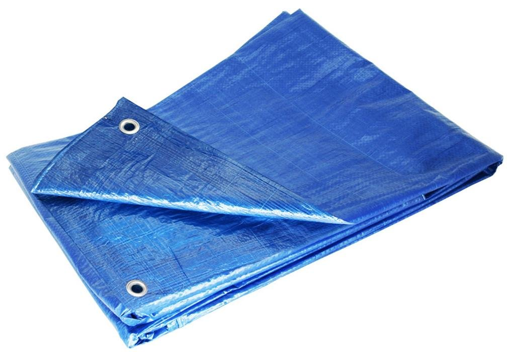 9' X 12' Blue Waterproof Poly Tarp 9x12 Tarpaulin for Camping Hiking Backpacking Tent Shelter Shade Canopy Etc. by Super Tarp