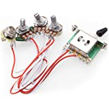 electric guitar wiring harness kits for strat style guitar replacement,  2t1v control knobs 5-way…