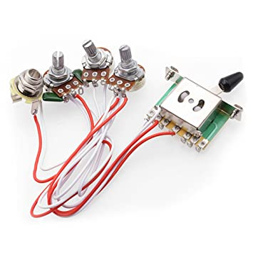 electric guitar wiring harness kits for strat style guitar rh amazon co uk guitar wiring harness left handed guitar wiring harness uk