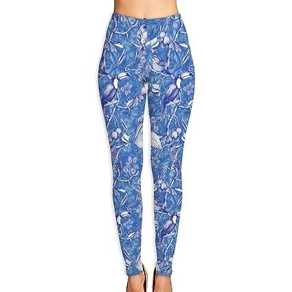 b81019ad533655 MC WUAHW Bright Blue Toucan Classic Tummy Control Yoga Leggings Daily Yoga  Pants Compression Joggers