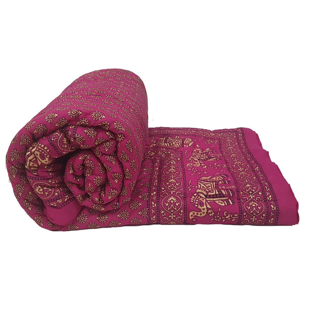 Royal Handicrafts Cotton Double Bed Jaipuri Razai