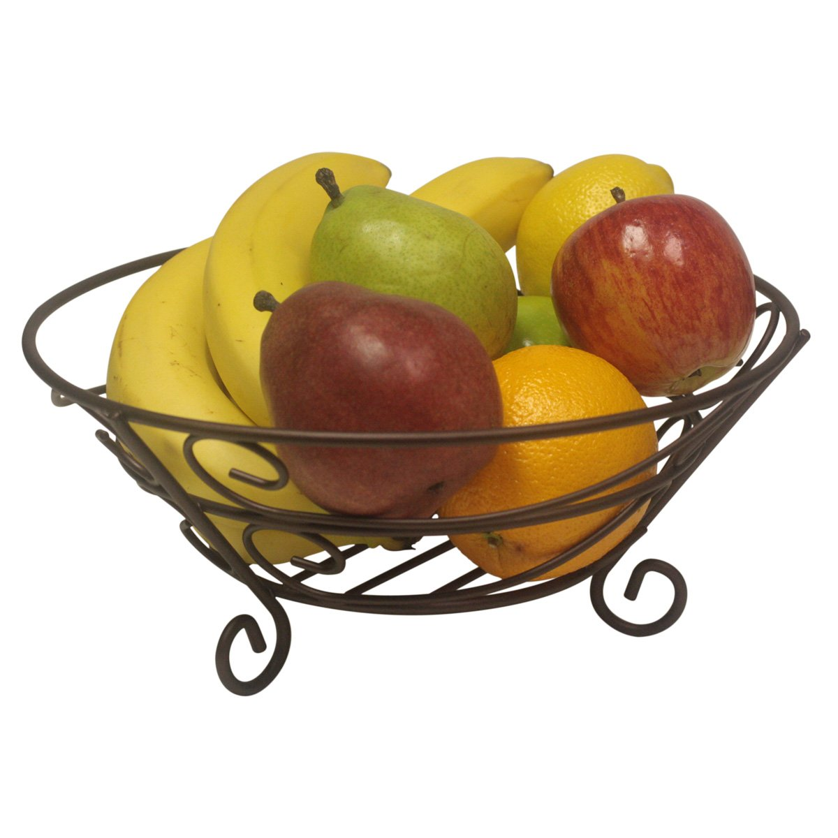 Home Basics Scroll Collection Fruit Basket HDS Trading Corp FB10650