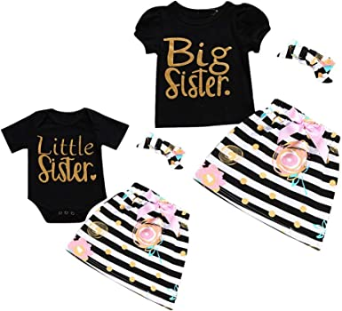 Newborn Baby Kids Girl Sister Matching Cotton Clothes T Shirt Dress Pants Outfit Sfhs Org