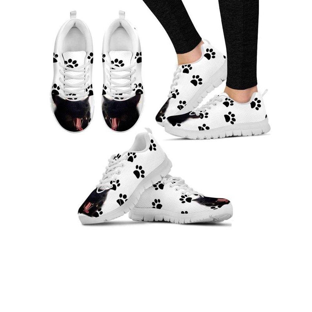 Shoetup Cute Toothless Cat Print Womens Casual Sneakers