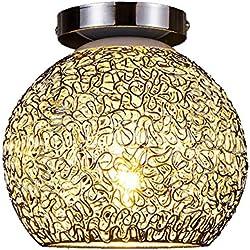 LgoodL Modern Mini Crystal Chandelier Chrome Finish Wall Sconce Lighting Metal Frame Flush Mount Ceiling Lamp Fixture Pendant(Warm Light)