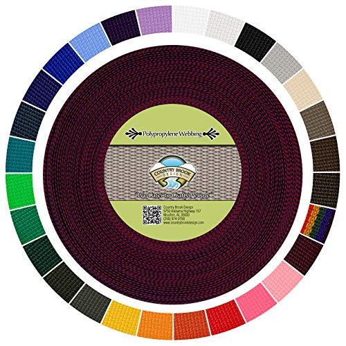 (Country Brook Design | Polypropylene Webbing (Rainbow, 50 Yards, 1 Inch))