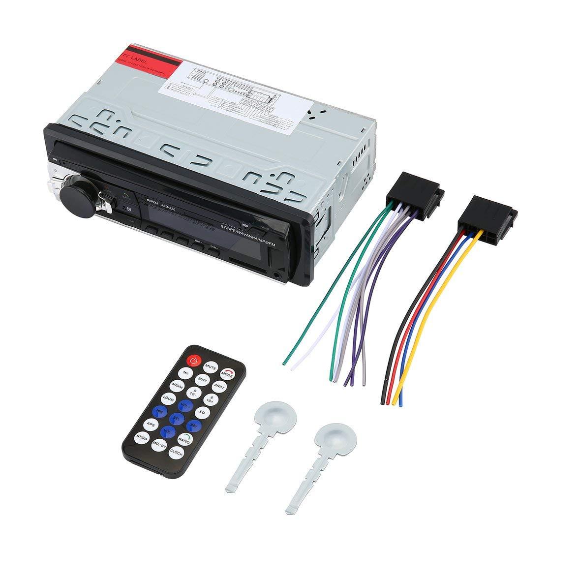 MqbY Car MP3 Player AUX Audio Input LOC Loud EQ 4-Way RCA Output