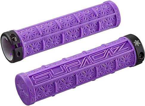 SUPACAZ GRIZIPS 32mm Lock-on Mountain Bike Grips Neon Purple