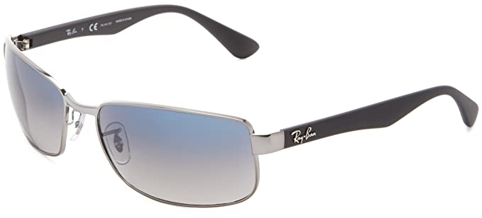 rb3478  Amazon.com: Ray-Ban RB3478 - GUNMETAL Frame CRYSTAL POLAR BLUE ...