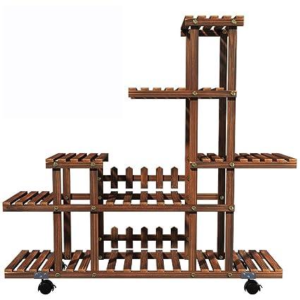 Amazon Com Plant Stand Solid Wood Multi Level Falling Floor