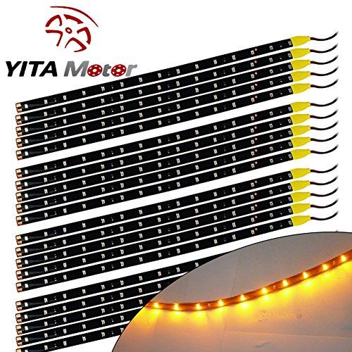 YITAMOTOR Yellow 15 LED Flexible Waterproof