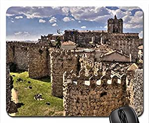 castle walls Mouse Pad, Mousepad (Medieval Mouse Pad, 10.2 x 8.3 x 0.12 inches)