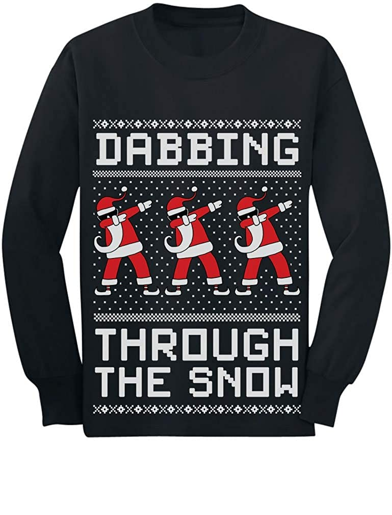 Tstars Dabbing The Snow Santa Christmas Dab Toddler//Kids Long Sleeve T-Shirt