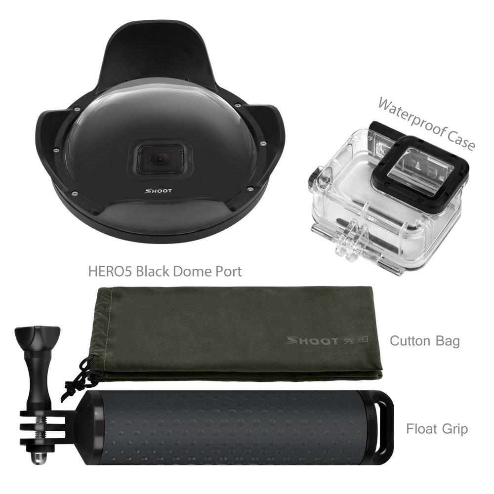 Shoot Underwater Lens Hood Dome Port for GoPro HERO7 Black/HERO6/HERO5/HERO2018 Action Camera (Shoot Official Accessory) (XTGP376B) by unbrand (Image #1)