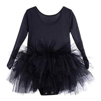 ba693040f091 Amazon.com  Jchen(TM) Little Kids Baby Girls Dress Gymnastics Dance ...