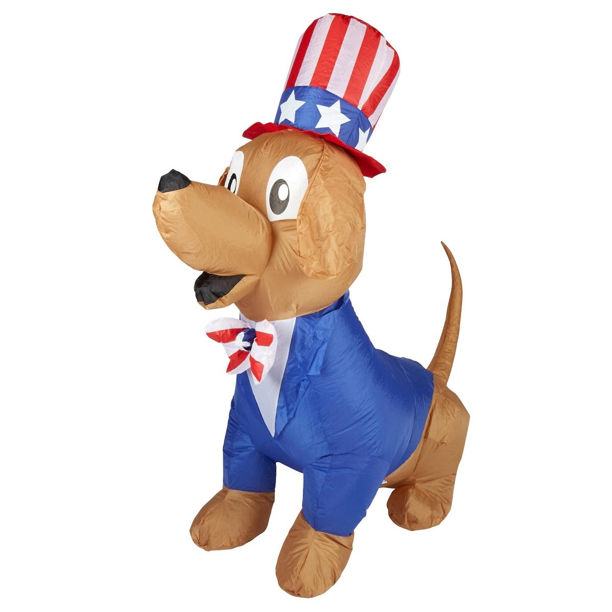 Patriotic Inflatable 5' Uncle Sam Puppy Dog By Gemmy by Airblown Inflatable