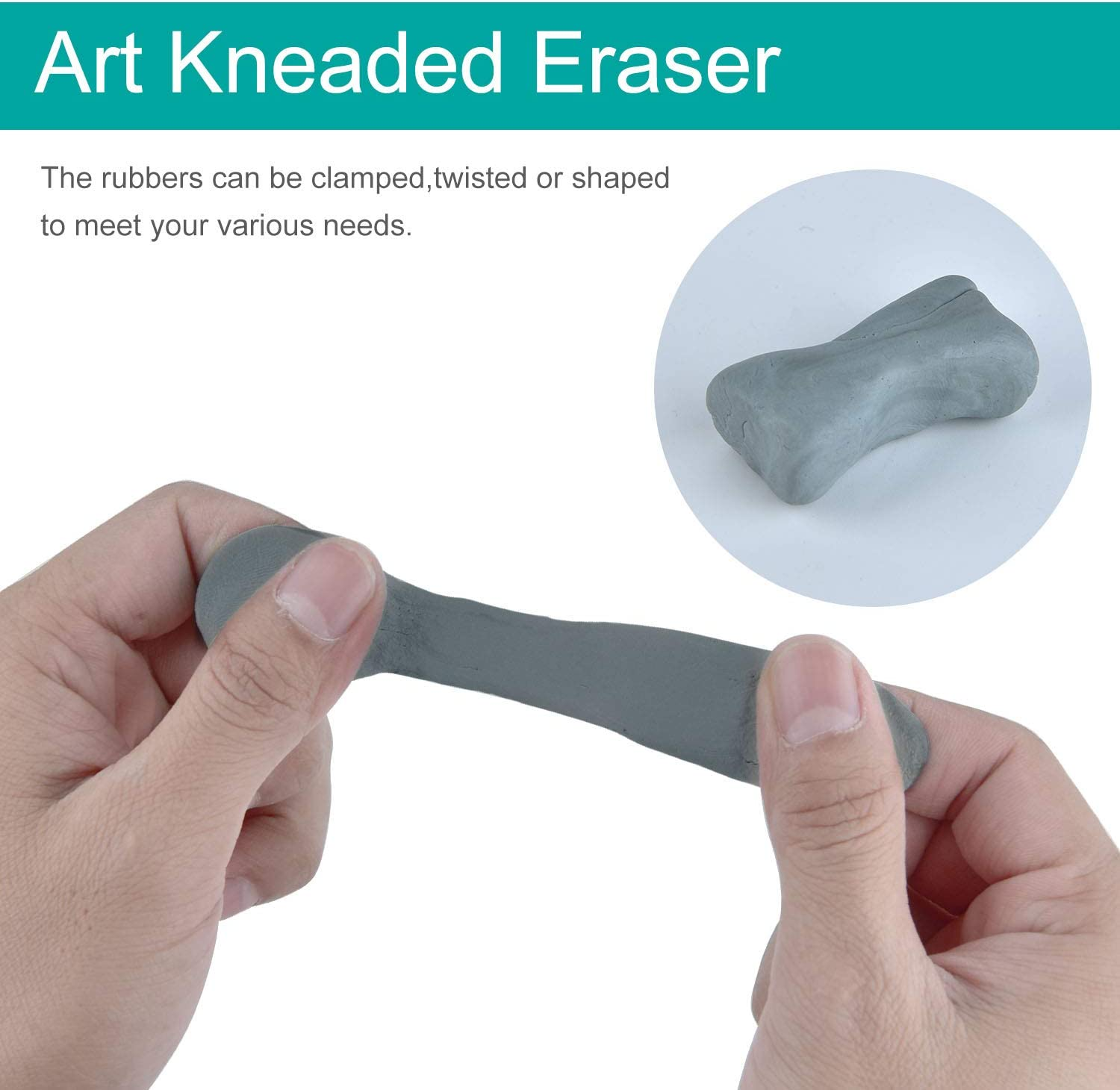 10 Grey SAYAYA Kneaded Erasers Drawing Art Kneaded Rubber Erasers for Drawing and Pastel