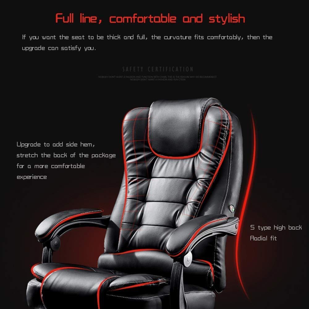 Dalovy bekväm kontorsstol uppgift stol midja massage PU-läder säte ergonomisk lyftchef stol verkställande stol bärande kapacitet: 150 kg Brun