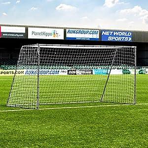 Net World Sports Forza Steel42 Soccer Goal | Premium Backyard Soccer Goals for Juniors | Weatherproof Steel Goals | Choose Your Size