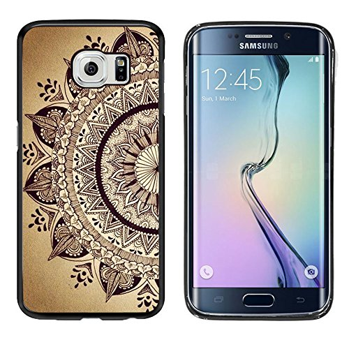 Case, Laser Technology for Protective Samsung Galaxy S6 Edge Plus Case Black DOO UC (TM) - The elegant Mandala ()
