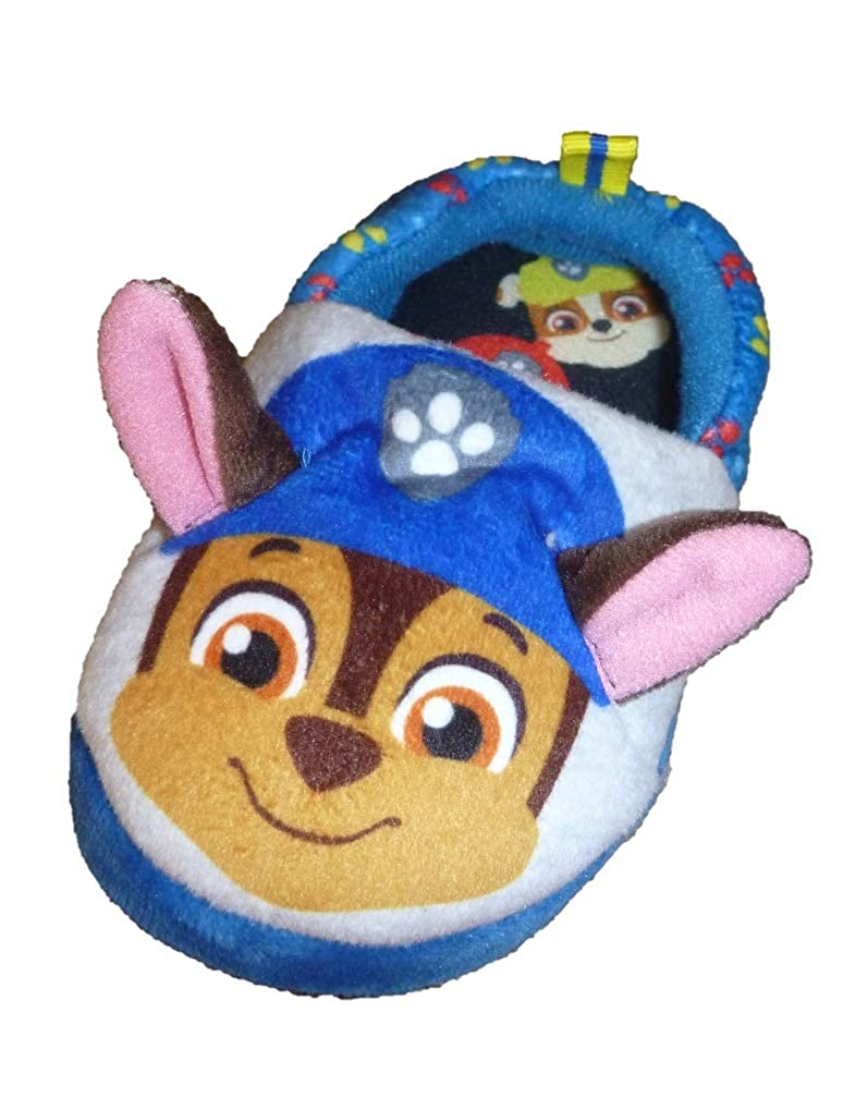 Toddler Boys Paw Patrol Chase /& Marshall A-Line Slippers
