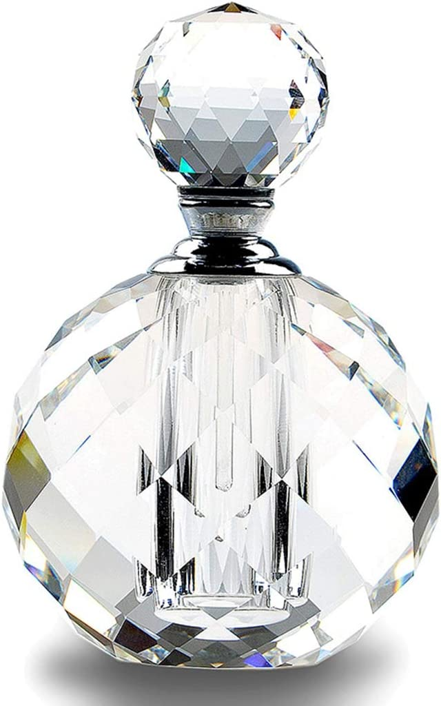 H D Crystal Art Deco Vintage Style Perfume Bottles Empty Glass Refillable 10ml