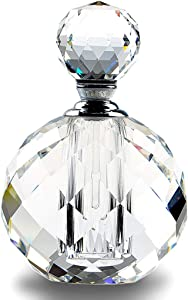 H&D Crystal Art Deco Vintage Style Perfume Bottles Empty Glass Refillable 10ml
