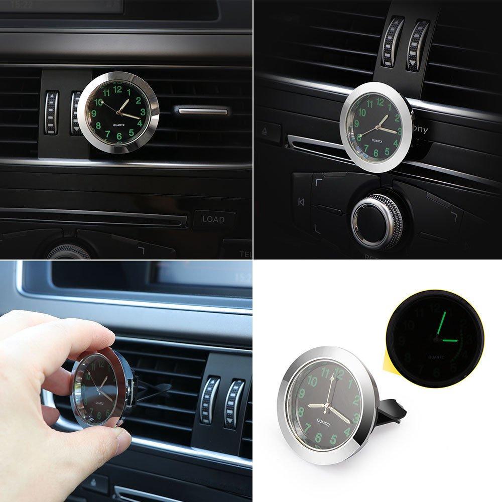 diametro 4,5 cm. auto Air Vent orologio al quarzo mini veicolo cruscotto orologio Onever orologio da auto