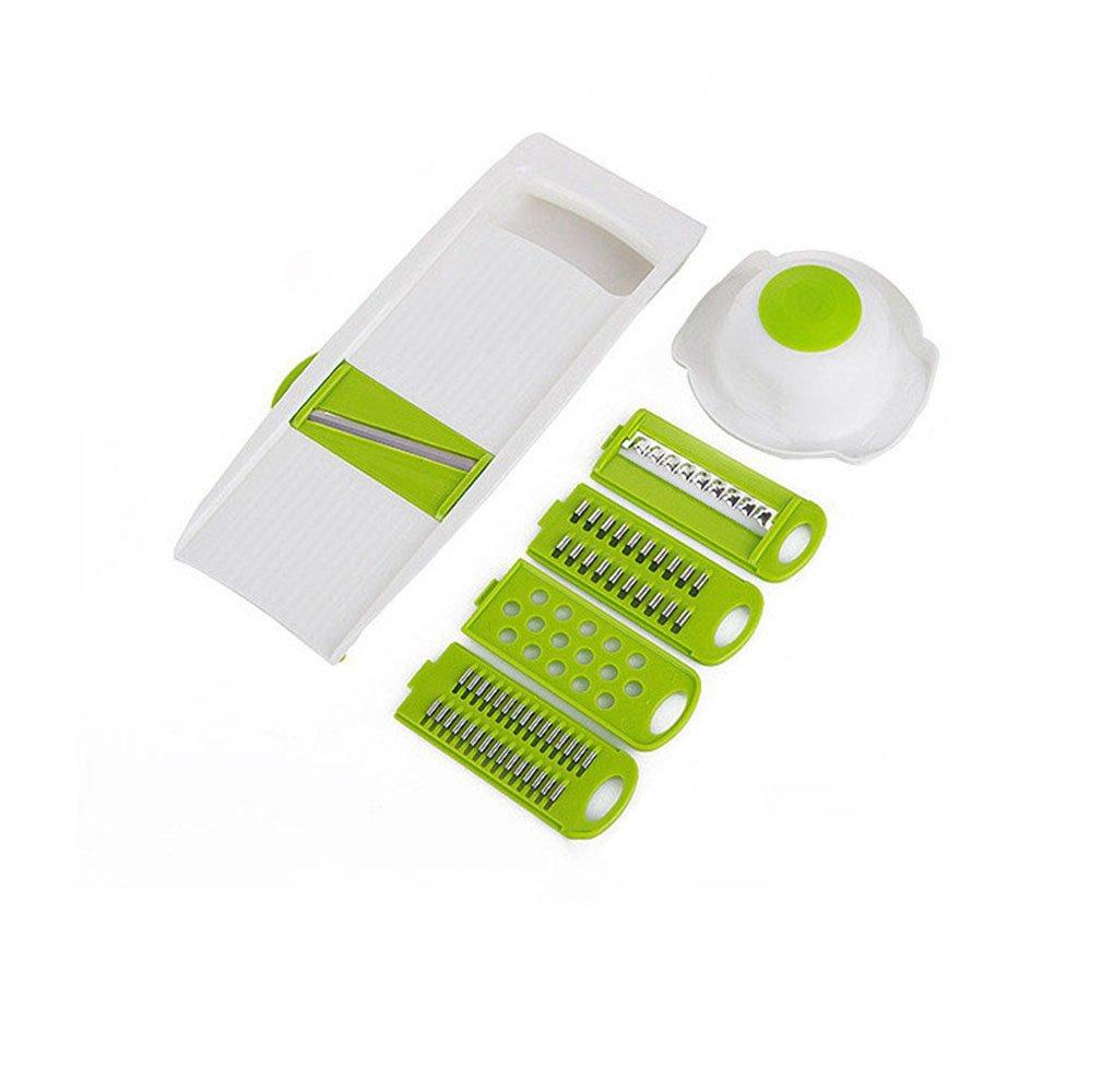 Keynis Mandoline Stainless Steel Vegetable Slicer Green Cutter Slicer Chopper 5 in 1
